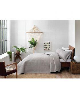 طقم غطاء سرير مفرد Trista -لون رمادي Tac