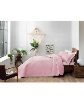 طقم غطاء سرير مزدوج Trista -لون وردي Tac