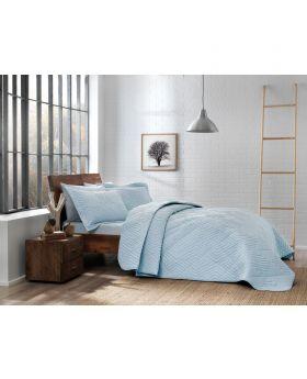 طقم غطاء سرير Mono مفرد لون أزرق Tac