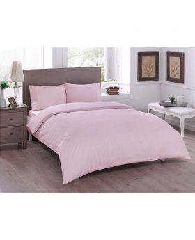 طقم بياضات سرير مفرد Ranforce-لون وردي Tac