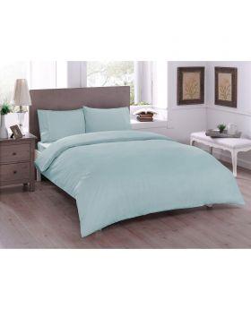 طقم بياضات سرير مزدوج Ranforce-لون تركواز Tac
