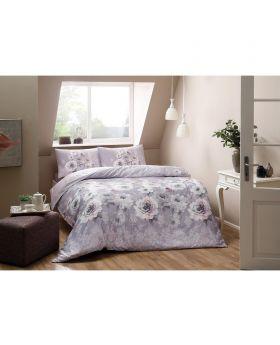طقم بياضات سرير مفرد Giana-لون أرجواني Tac
