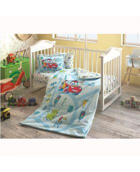 طقم بياضات سرير سيارات ديزني لأطفال حديثي الولادة Tac