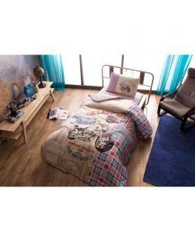 """مجموعة لحاف سرير مصنوع من قطن الرانفورس قياس مفرد """" شخص واحد """" TAC Vintage Light"""