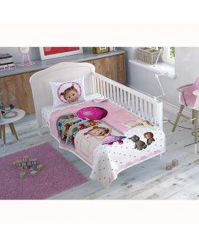 طقم مفارش سرير حواجز للأطفال بطبعة ماشا والدب  Tac