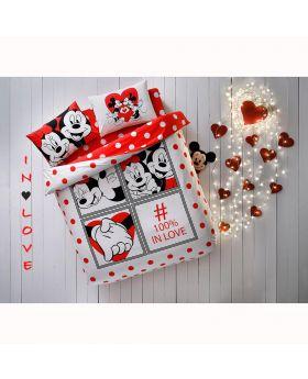 """طقم غطاء سرير قياس مزدوج """" شخصين """" TAC Disney Minnie&Mickey Dotty"""