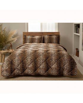 مجموعة لحاف سرير بنقشة جلد النمر ماركة TAC