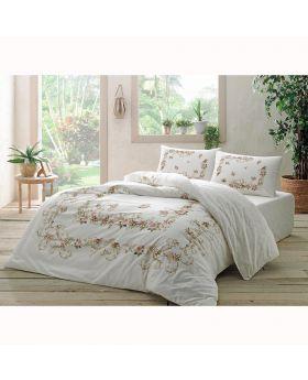طقم بياضات سرير مزدوج Bellarose-لون أبيض Tac