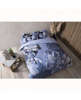 طقم بياضات سرير مزدوج Serah-لون أزرق Tac