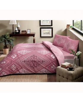 طقم بياضات سرير مزدوج Silvia -لون وردي Tac