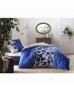 طقم بياضات سرير مزدوج Lizzy-لون أزرق Tac