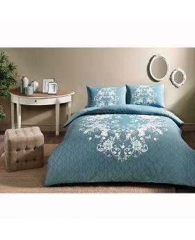 طقم بياضات سرير  Sonya  -لون أزرق Tac