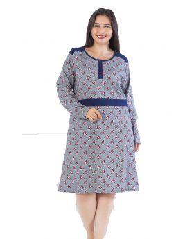 فستان للنساء حجم كبير - ذو طباعة HMD