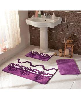 مجوعة دعاسات حمام Verano -لون موف  Tac