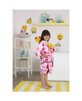 برنس أطفال بناتي بطبعة إيموجي ماركة  Tac