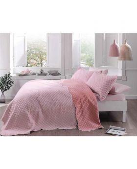 غطاء سرير مفرد Muse -لون وردي Tac