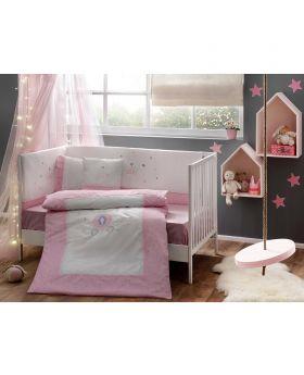 طقم مفرش سرير Princess Bebek للأطفال حديثي الولادة Tac