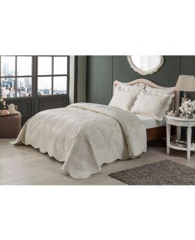 مجموعة أغطية سرير مزدوج Vernita -لون بيج Tac