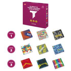 """مطبوعات TÜZDER ، مجموعة مكونة من 9 كتب """" مستوى 1، 2، 3 """" لأعمار 4-5-6 أعوام"""