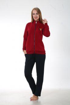 طقم رياضة للنساء - لون خمري HMD