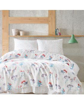 """طقم غطاء سرير قطني منقوش أخضر قطن 100% ماري كليرأغاثا  MARIE CLAIRE AGATHE مزدوج """" ثنائي"""""""