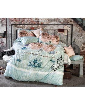 """غطاء سرير من قطن الرانفورس مفرد """" شخص واحد """" WORLD TRAVEL"""