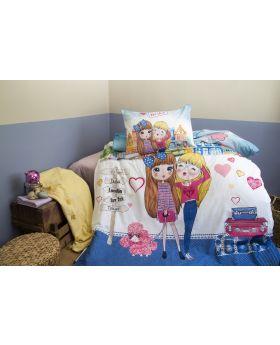 """طقم غطاء سرير مصنوع من الرانفورس مفرد """" شخص واحد """" BESTIE"""