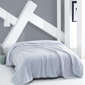 بطانية بوليستر زرقاء حجم كبير 220×240 سم  ماري كلير جانيه MARIE CLAIRE JANNIE