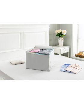 صندوق قماشي لون رمادي سادة  45x40x32 سم