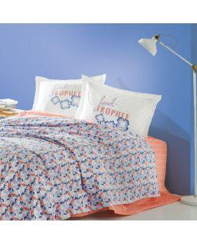 """طقم غطاء سرير قطني منقوش لون سومو 100%قطن ماري كلير ماريون MARIE CLAIRE MARION مزدوج """" ثنائي"""""""