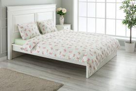 """طقم غطاء سرير مزدوج """" شخصين """" لون اخضر 220×200سم"""
