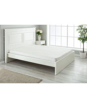 """مفرش سرير مزدوج """" شخصين """" ذو محيط مطاطي  160x200+30  سم لون بيج"""