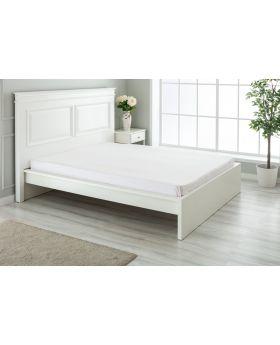 """مفرش سرير مزدوج """" شخصين """" ذو محيط مطاطي  160x200+30  سم لون وردي منقط"""