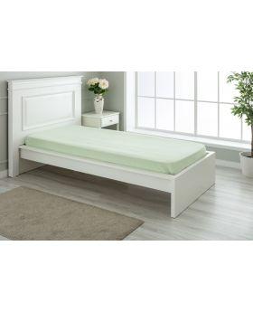 """مفرش سرير مفرد """" شخص واحد """" ذو محيط مطاطي لون أخضر 100x200+30 سم"""