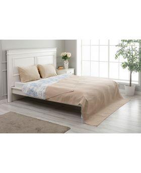 """غطاء سرير مزدوج """" شخصين """" لون بيج 200x220 سم"""