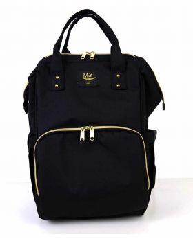 حقيبة  ظهر بيبي  للأم باللون الأسود MY Collection