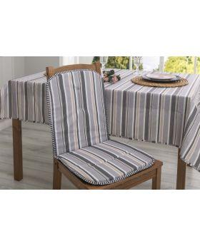 وسادة كرسي مع مسند للظهر بتصميم انيق لون رمادي 80x40 سم