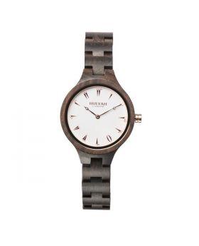 ساعة يد نسائية خشب أصلي مرقمة بالأرقام العربية Hulyah London