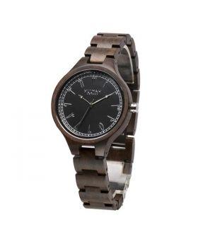 ساعة يد خشب أصلي مرقمة بالأرقام العربية Hulyah London