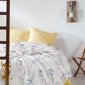 """طقم غطاء سرير قطني منقوش متعدد الألوان 100% قطن ماري كلير باريس بلاج MARIE CLAIRE PARIS PLAGE مزدوج """"ثنائي"""""""