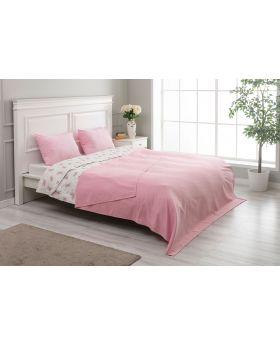 """غطاء سرير مزدوج """" شخصين """"  200x220  سم لون وردي"""