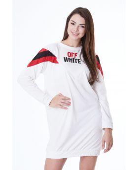 تونيك قطني نسائي-لون أبيض  of white