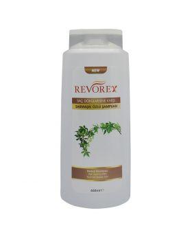 شامبو مناسب لأنواع الشعر العادي مستخلص من الثوم الاسود 650 مل Revorex