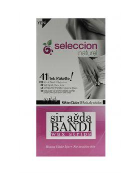 شرائح شمعية لإزالة الشعر للجلد الحساس 41 قطعة Seleccion
