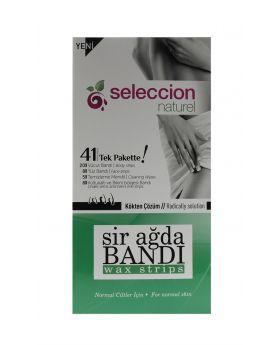 شرائح شمعية لإزالة الشعر للجلد العادي 41 قطعة Seleccion