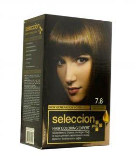 صبغة شعر نمرة 7.8 لون القهوة الاستوائية Seleccion Plus