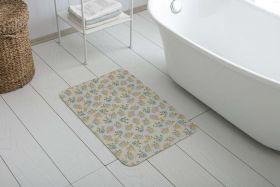 دواسة أرضية بانيو الحمام غير قابلة للانزلاق مصنوعة من خيط الشانيل 50x85 سم  لون ازرق