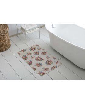 دواسة أرضية بانيو الحمام غير قابلة للانزلاق مصنوعة من خيط الشانيل 50x85 سم  لون وردي