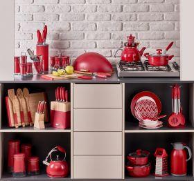 مجموعة أدوات مطبخ لون احمر 25 قطعة  من نيفا NEVA Sweet