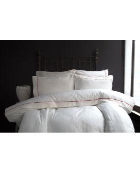"""طقم غطاء سرير ساتان لون برتقالي مزدوج """" شخصين """" LARINA"""